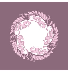 Light rose color art nouveau style vector