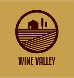 Logo with a wine valley vector