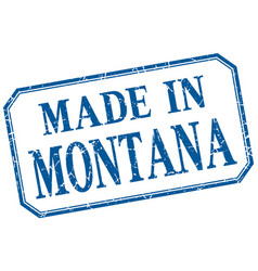 Montana - made in blue vintage isolated label vector