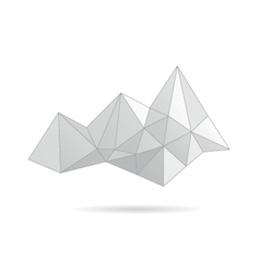 Mountain gray abstract vector