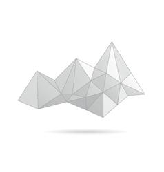 Mountain gray abstract vector image vector image