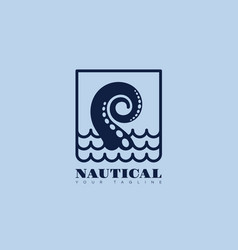 nautical logo vector image vector image