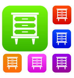 nightstand set collection vector image vector image
