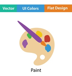 Palette toy icon vector image vector image