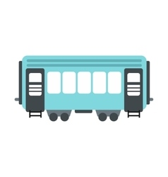 Passenger railway waggon icon vector