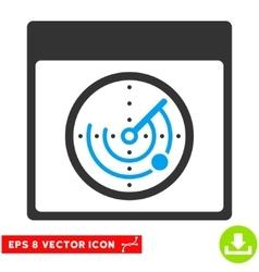 Radar calendar page eps icon vector