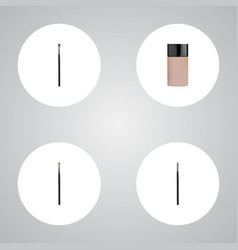 Realistic brow makeup tool concealer eye vector