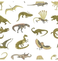Seamless pattern of jurassic reptile vector