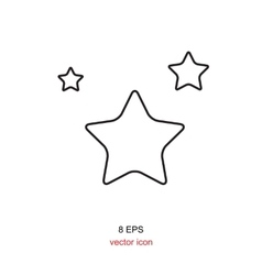 Simple star icon vector