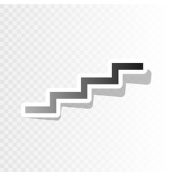 Stair up sign new year blackish icon on vector