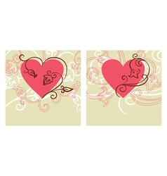 Valentine design card vector
