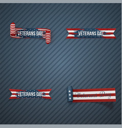 Veterans day patriotic ribbons vector