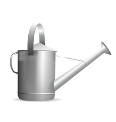 watering can in the garden on a white background vector image vector image