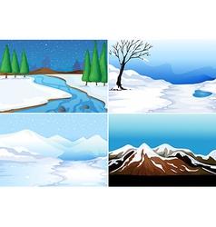 Winter scenes vector image