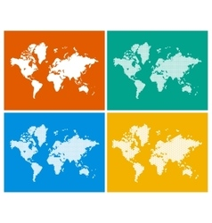 World Map in 4 Styles vector image