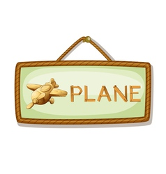 Board and airplane vector
