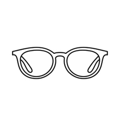 Glasses icon in outline style vector