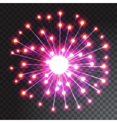 Green and blue coloured firework isolated on vector
