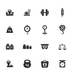 scales icons set vector image