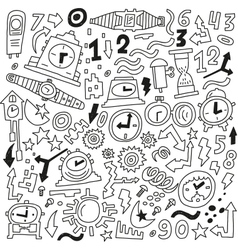 Time doodles vector