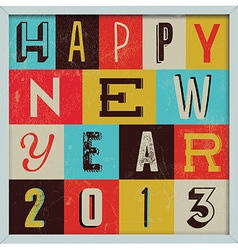 307colorful retro vintage 2013 new year vector