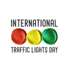 International traffic lights day poster vector
