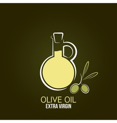 Olive oil design background vector