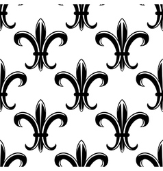 Classic fleur de lys seamless tracery pattern vector