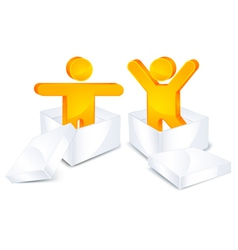 3d people figures vector image vector image