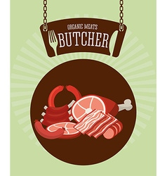 Butcher menu vector