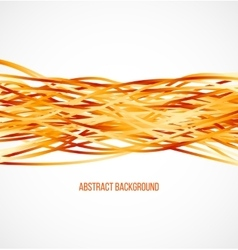Absract orange background with horizontal lines vector image