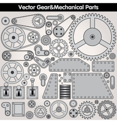 Mechanical parts and gears kit vector