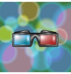 Glasses for watching movies vector