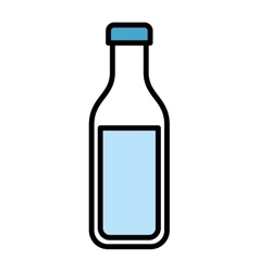 Bottle milk isolated icon design vector