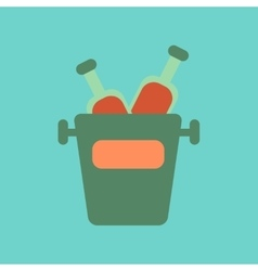 flat icon on background bottle bucket vector image