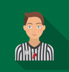 Basketball refereebasketball single icon in flat vector
