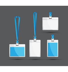 Blue lanyards vector