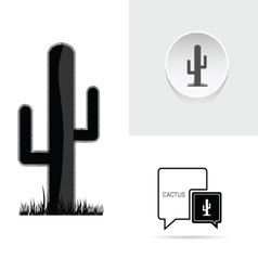 Cactus speech bubble vector