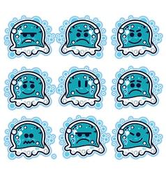 Cartoon jellyfish vector image