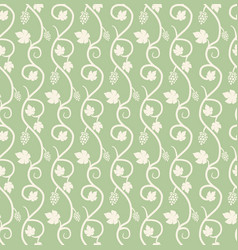 chain of grape ivy seamless pattern vector image