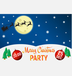 christmas party poster template background vector image vector image