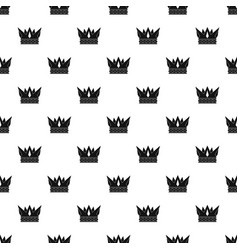 Cog crown pattern vector
