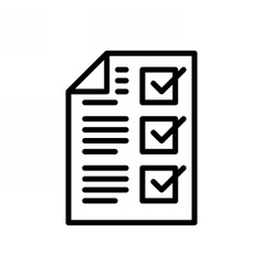 Completed tasks icon vector