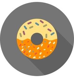 Cream doughnut vector