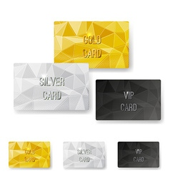Crystal pattern structure premium card set vector image vector image