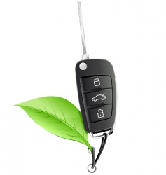 electric car key vector image