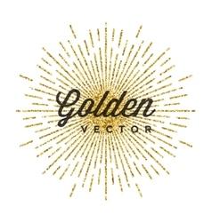 Gold glitter sparkles bright confetti black vector