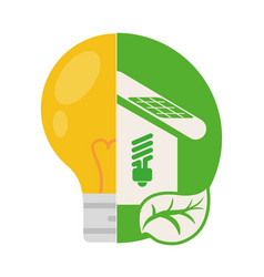 House energy ecology home vector