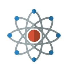 isolated atom science vector image