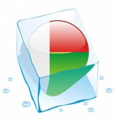 Madagascar flag vector image vector image